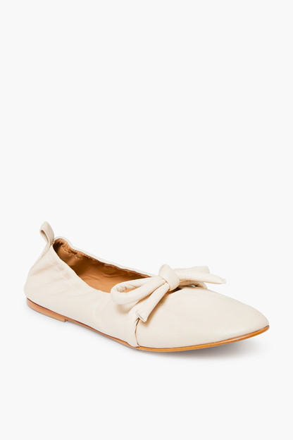 polly leather creme flats