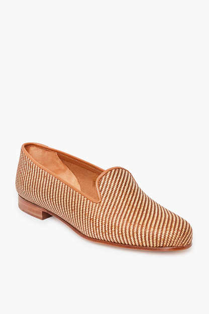 Straw Woven Natural Slippers