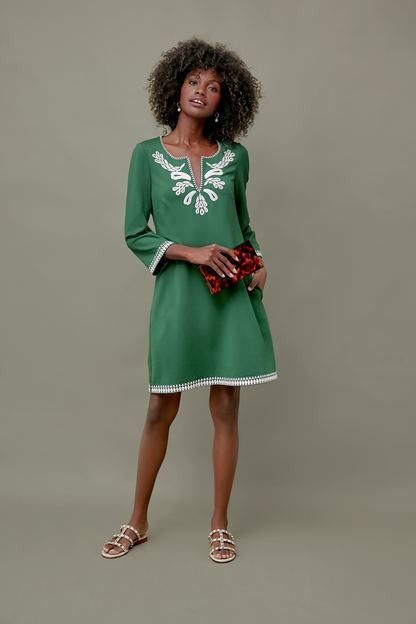 miguelina embroidered dress