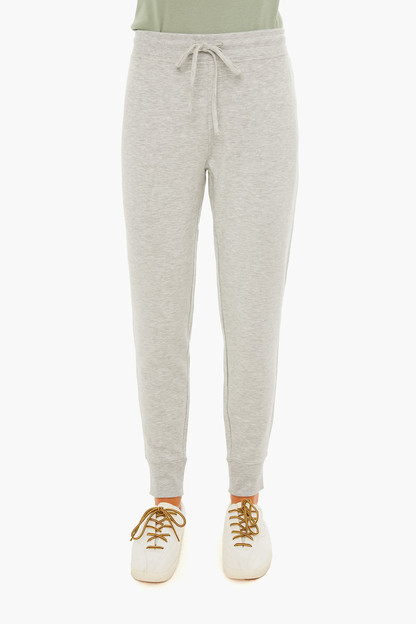 light gray heather brushed dreamcloth jogger