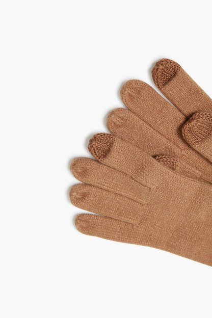 camel echo knit touch gloves