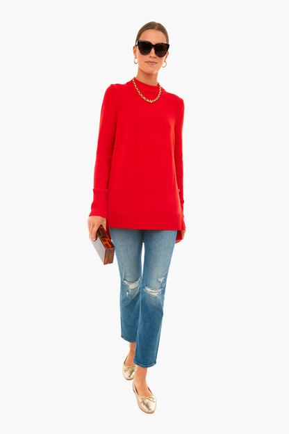apple red bexley sweater