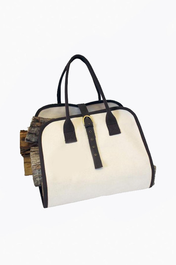 canvas log carrier