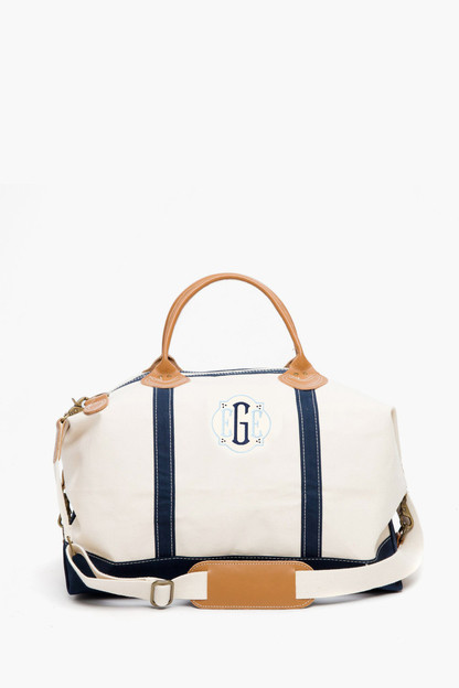 navy monogrammed sunshine satchel