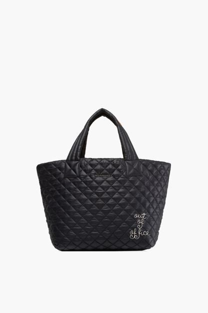 Black Small Metro Tote If ordered with a monogram, this item will not arrive for Christmas.